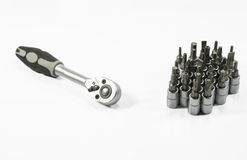 Socket wrench with bits Stock Photos