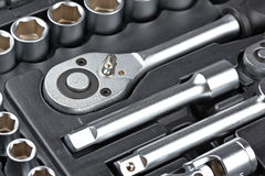 Socket wrench set Royalty Free Stock Images