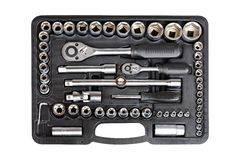 Socket wrench set royalty free stock photography
