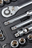 Socket wrench set Royalty Free Stock Image