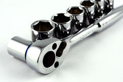 Socket Wrench Set. Socket wrench with set of sockets Stock Image