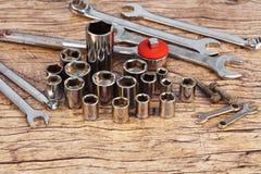 Socket wrench set stock photography