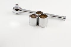 Socket Wrench and Sockets Royalty Free Stock Photos