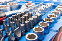 Socket wrench toolbox Royalty Free Stock Photo