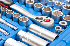 Socket wrench toolbox royalty free stock images