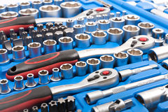 Socket wrench toolbox Royalty Free Stock Photos