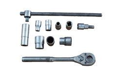 Socket Wrench. On white background royalty free stock image