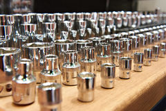Socket wrenches in store stock photography