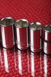 Socket wrenchs. Some reflecting chrome socket wrenchs royalty free stock photo