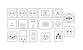 Socketes ilustración del vector