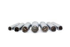 Socketes del receptor de papel profundo imagen de archivo