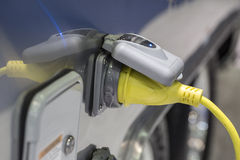 Sockets for charging electric cars.  Royalty Free Stock Images