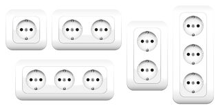 Sockets Double Triple Stock Image