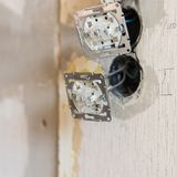 Sockets and electrical wires Stock Photography