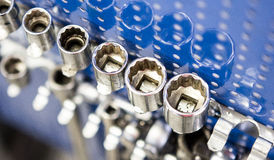 Sockets for engine repair Stock Photo