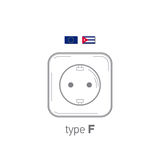 Sockets icon. Type F. AC power sockets realistic illustration. Different type power socket set, vector isolated icon Stock Photo