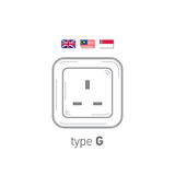 Sockets icon. Type G. AC power sockets realistic illustration. Different type power socket set, vector isolated icon Royalty Free Stock Photography