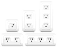 Sockets Outlets Variations Double Triple Royalty Free Stock Image