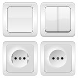 Sockets and switches Stock Photos