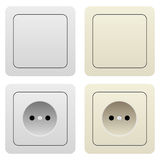 Sockets and switches Royalty Free Stock Photo