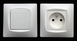 Sockets and switches Stock Image