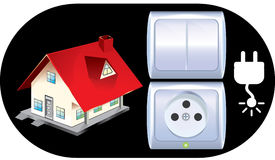 Sockets and switches set Royalty Free Stock Images
