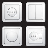 Sockets and switches Royalty Free Stock Photos