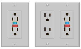 Sockets US version with fuse Stock Images