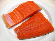 Sockeye Salmon Fillets Stock Image