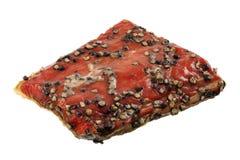 Sockeye salmon smoked and peppered Stock Images