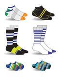 Sockor vektor illustrationer