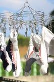 Sockor som torkar Sunny Day Abstract Arkivbilder