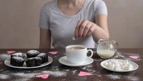 Sockra kaffetabellen lager videofilmer