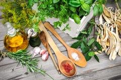 sockrar nuts kryddor för kanelbruna ingredienser för matlagningäggmjöl vanilj Arkivbilder
