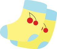 Socks. Illustration of socks on white Royalty Free Stock Photos