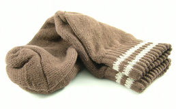 Socks. Folded brown sock Stock Images