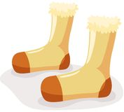 Socks. Illustration of isolated cartoon socks on white background Royalty Free Stock Photos