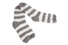 Socks. Funny socks isolated on white background with clipping path Royalty Free Stock Images