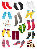 Socks. Set of colored socks on a white background Royalty Free Stock Image