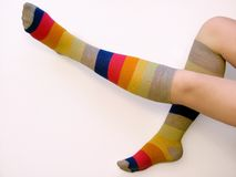 Socks. Legs Stock Images