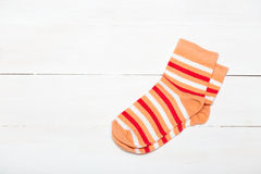 Socks. Bright new socks on a white background Stock Images