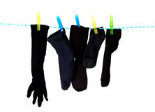 Socks on a clothesline Stock Image
