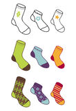 Socks collection Royalty Free Stock Images