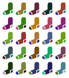 Socks in different colors. Vector. Stock Photos