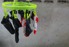 Socks drying Stock Photo