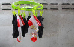 Socks drying Stock Photos