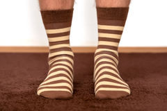 Socks on feet Royalty Free Stock Images