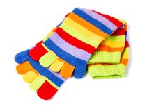 Socks with fingers isolated. On white background stock photo