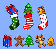 Socks and Gift Stock Photos