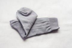 Socks gray Stock Photography
